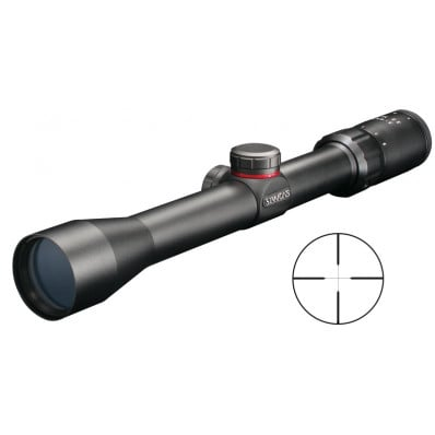 "Simmons .22 Mag Rimfire Rifle Scope with Rings - 3-9x32mm Truplex 31.4-10.5' 3.75"" Matte"