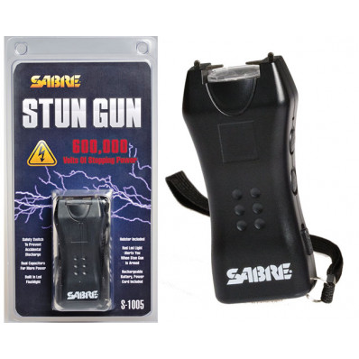 Sabre 600,000 Volt Mini-Stun Gun with LED - Black