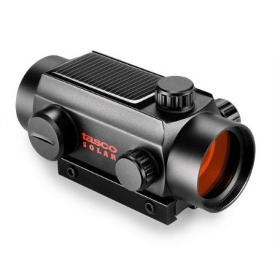 Tasco Solar Cell Red Dot Sight for .22 - 1x30mm 5 MOA Red Dot - Matte