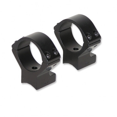 Talley Lightweight Alloy Scope Mounts - Black Anodized - 30mm - Medium, Anschutz (for drilled and tapped receivers), Savage Model 25