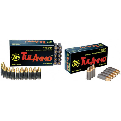 Tula Centerfire Handgun Ammunition 9mm Luger 115 gr FMJ 1150 fps 900/box