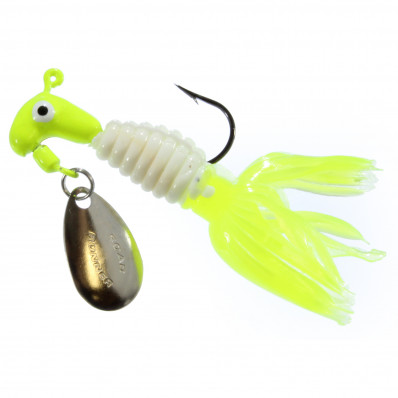 Road Runner Crappie Thunder Jig Panfish Lure 1/8 oz 2pk - Chartreuse/White/Chartreuse