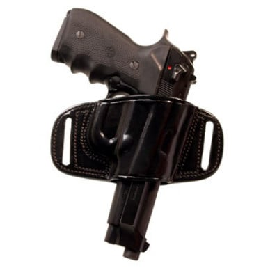Tagua Gunleather Quick Draw Belt Holster for Glock 17/22/31/37 Black Right  Hand