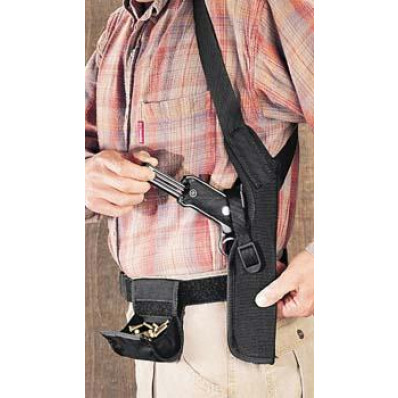 Uncle Mike's Sidekick Shoulder Holsters for Scoped Guns 3 Black Right Hand  - Fits Double Action and 4-5/8