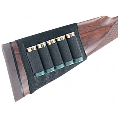 Uncle Mike's Plain Black Cartridge Holder for Shotgun Buttstock