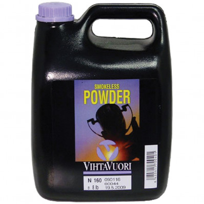 VihtaVouri N160 Smokeless Rifle Powder 8 lbs