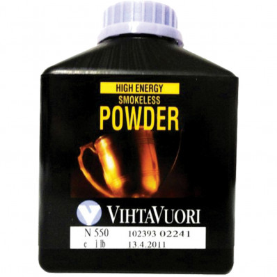 VihtaVouri N550 High Energy Smokeless Rifle Powder 1 lbs