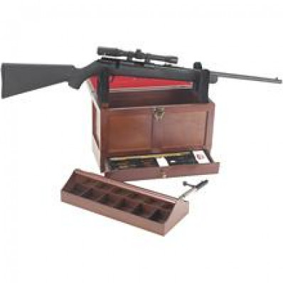 DAC Technologies Wooden Toolbox with 17-Piece Universal Gun Cleaning Kit