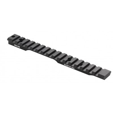 Weaver 1-Piece Extended Multi-Slot Base - Black Anodized - Savage Accutrigger SA 20 MOA