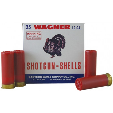 "Wagner Shotgun Ammunition 12 ga. 2 3/4"" MAX 1-1/8 oz. #9 25/Box"