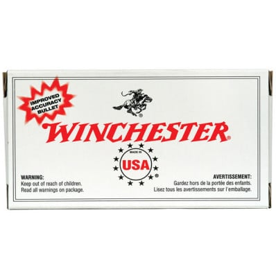 Winchester Metric Caliber Centerfire Handgun Ammunition 9mm Makarov 95 gr FMJ 1017 fps 50/box