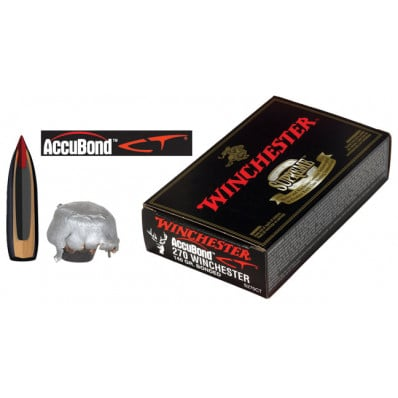 Winchester AccuBond CT Centerfire Rifle Ammunition .270 Win 140 gr AB 2950 fps - 20/box