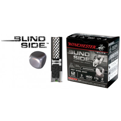 "Winchester Blind Side Hex Shot 12 ga 3""  1 3/8 oz #BB 1400 fps - 25/box"