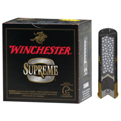 "Winchester Supreme High-Velocity Drylok Super Steel Waterfowl 10 ga 3 1/2"" MAX 1 3/8 oz #BBB 1450 fps - 25/box"