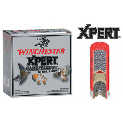 "Winchester Xpert Steel 12 ga 2 3/4""  1 1/8 oz #7  - 25/box"