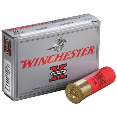 "Winchester Super-X Slug 12 ga 2 3/4""  1 oz Slug 1600 fps - 5/box"