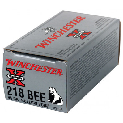 Winchester Super-X Centerfire Rifle Ammunition .218 Bee 46 gr JHP 2760 fps - 50/box
