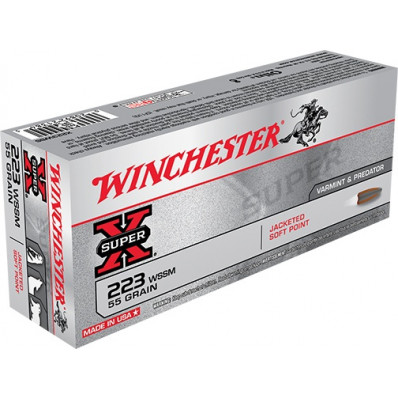 Winchester Super-X Centerfire Rifle Ammunition .223 Rem 55 gr PSP 3850 fps - 20/box
