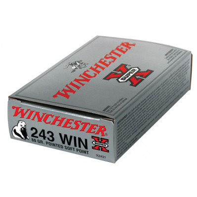 Winchester Super-X Centerfire Rifle Ammunition .243 Win 80 gr PSP 3350 fps - 20/box