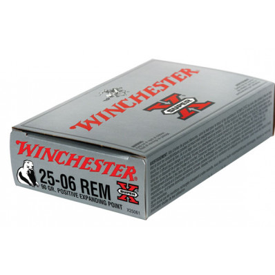 Winchester Super-X Centerfire Rifle Ammunition .25-06 Rem 90 gr PEP 3440 fps - 20/box