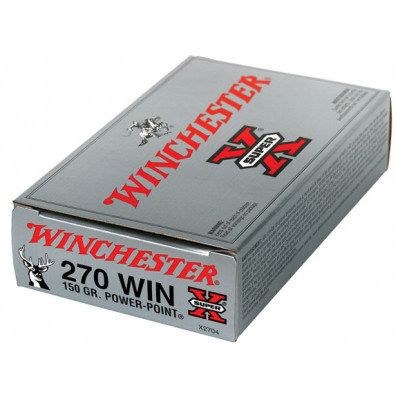 Winchester Super-X Power Point Centerfire Rifle Ammunition .270 Win 150 gr PSP 2850 fps - 20/box