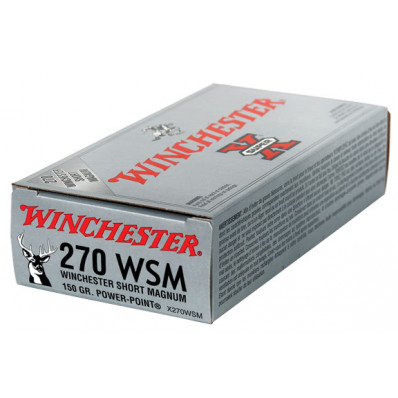 Winchester Super-X Power Point Centerfire Rifle Ammunition .270 WSM 150 gr PSP 3150 fps - 20/box