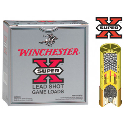 "Winchester Super-X Game 28 ga 2 3/4""  1 oz #6 1205 fps - 25/box"