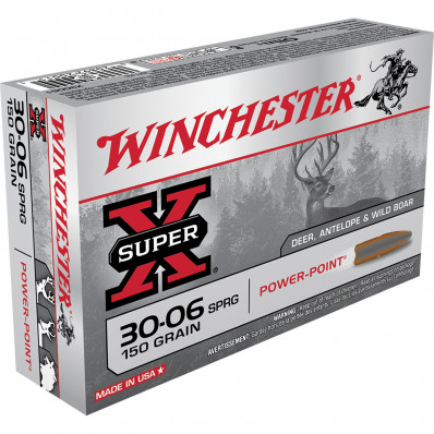 Winchester Super-X Power Point Centerfire Rifle Ammunition .30-06 Sprg 150 gr PSP 2920 fps - 20/box