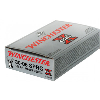 Winchester Super-X Power Point Centerfire Rifle Ammunition .30-06 Sprg 180 gr PSP 2700 fps - 20/box