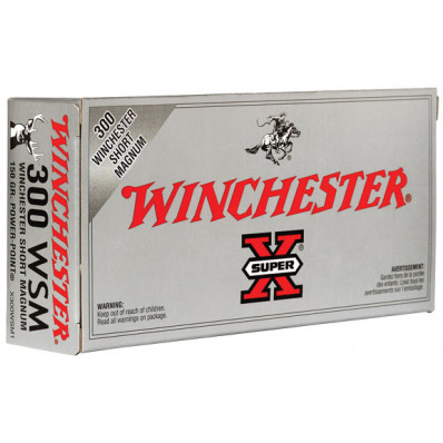 Winchester Super-X Power Point Centerfire Rifle Ammunition .300 WSM 150 gr PSP 3270 fps - 20/box