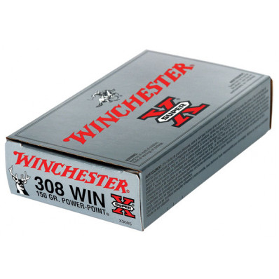 Winchester Super-X Power Point Centerfire Rifle Ammunition .308 Win 150 gr PSP 2820 fps - 20/box