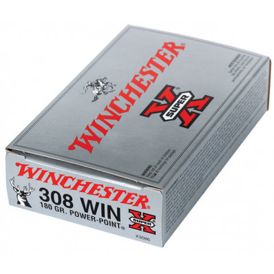 Winchester Super-X Power Point Centerfire Rifle Ammunition .308 Win 180 gr PSP 2620 fps - 20/box