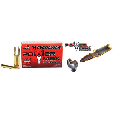 Winchester Super-X Power Max Bonded Centerfire Rifle Ammunition .338 Win Mag 200 gr PHP 2690 fps - 20/box