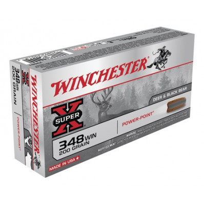 Winchester Super-X Power Point Centerfire Rifle Ammunition .348 Win 200 gr PSP  - 20/box