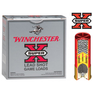 "Winchester Super-X High-Brass .410 ga 3"" MAX 3 3/4 oz #4 1100 fps - 25/box"