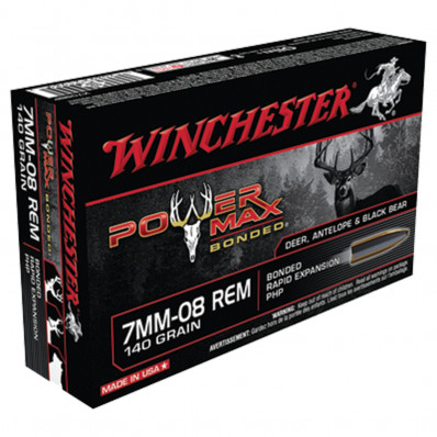 Winchester Super-X Power Max Bonded Centerfire Rifle Ammunition 7mm-08 Rem 140 gr PHP  - 20/box
