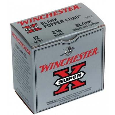 "Winchester Super-X Blank Cartridges 12 ga 2 3/4""   Smokeless  - 25/box"