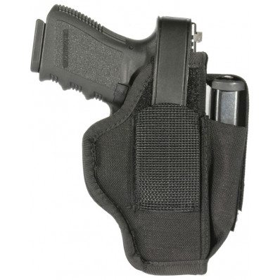 "Blackhawk 3.75""-4.5"" Barrel Large Autos Ambidextrous Holster w/ Mag Pouch - Black"