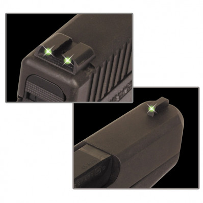 Truglo Glock 17/19/22 Low Tritium Handgun Sight Set Front & Rear Green