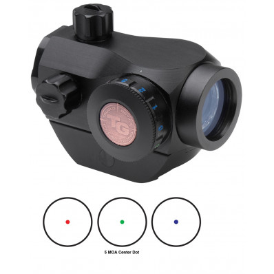 Truglo Triton 20mm Tri-Color Red Dot Sight w/Low Mounting Base - 1x20mm 5 MOA Red/Green/Blue Dot - Black