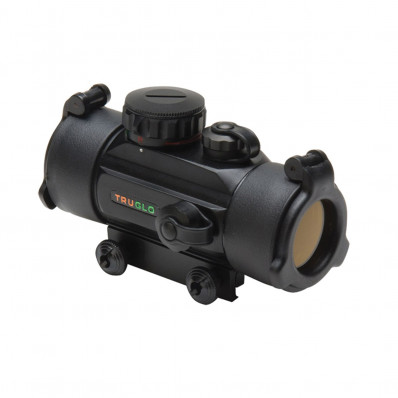 Truglo Traditional Red Dot Sight - 1x30mm 3 MOA Dot Size -  Black