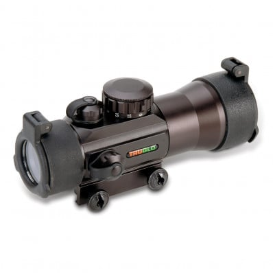 Truglo 2x42 Traditional Red Dot Sight - 2x42mm 2.5 MOA - Black