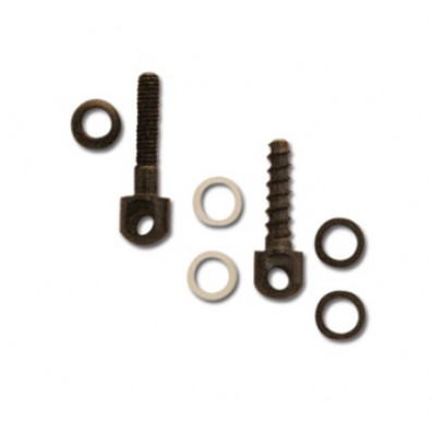 "GrovTec Small Parts - 1 Machine Screw Swivel Stud & Nut - 7/8"", 1 Wood Screw - 3/4"""