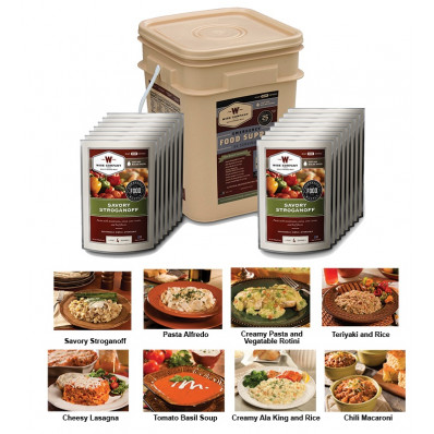 Wise Company 60-Serving Emergency Grab and Go Food Kit