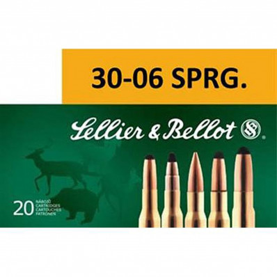Sellier & Bellot Centerfire Rifle Ammunition .30-06 Sprg 168 gr HPBT 849 fps - 20/box