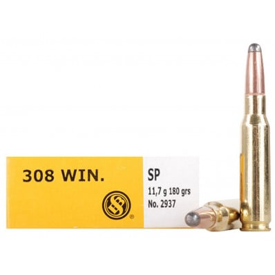 Sellier & Bellot Centerfire Rifle Ammunition .308 Win 180 gr SP  - 20/box