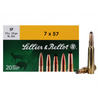 Sellier & Bellot Centerfire Rifle Ammunition 7x57mm 139 gr SP 800 fps - 20/box