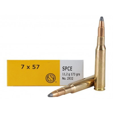 Sellier & Bellot Centerfire Rifle Ammunition 7x57mm 173 gr SPCE 725 fps - 20/box