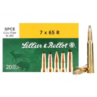 Sellier & Bellot Centerfire Rifle Ammunition 7x65R 173 gr SPCE  - 20/box