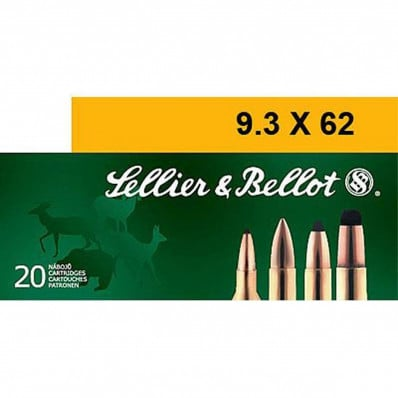 Sellier & Bellot Centerfire Rifle Ammunition 9.3x62mm 285 gr SP 565 fps - 20/box